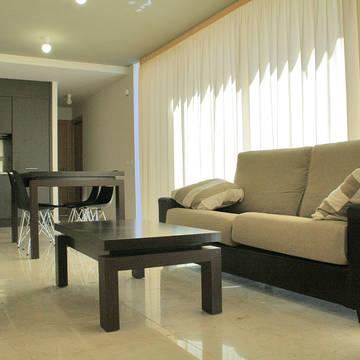 Woonkamer voorbeeld 2 Appartementen l'Escala Resort