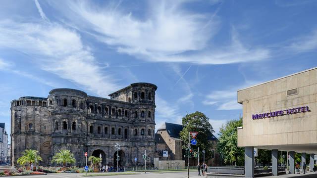 Voorzijde Mercure Trier Mercure Hotel Trier Porta Nigra