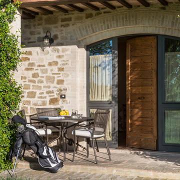 Voorbeeld terras Appartementen Valle di Assisi Resort