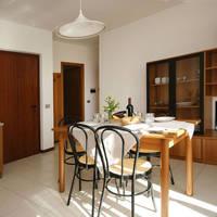 Appartement - voorbeeld woonkamer met keuken