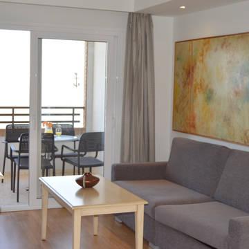 Voorbeeld woonkamer Les Dunes Comodoro