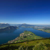 Lake Lucerne view from Rigi Kaenzeli