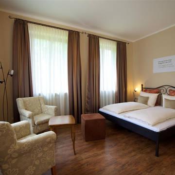 Voorbeeldkamer slaapkamer Hotel Villa Toscana