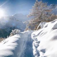 Winter hiking in het Saasdal