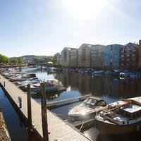 Trondheim Nidelven rivier