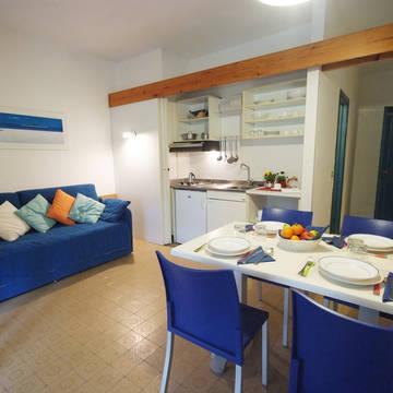 Voorbeeld woongedeelte Appartementen Golfo della Lacona