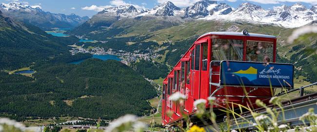 Uitzicht op St. Moritz