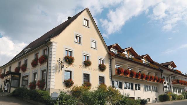 Vooraanzicht Landhotel Krone