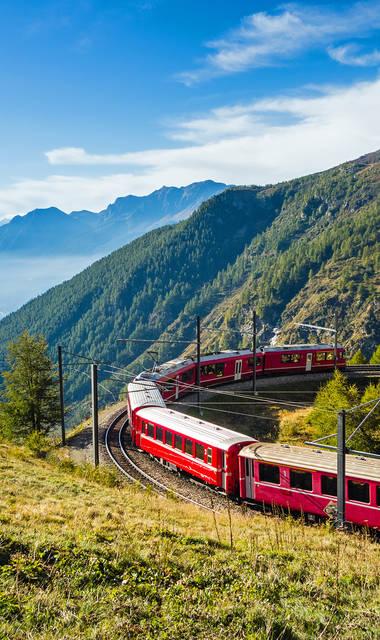 12-daagse bus- en treinreis Zwitserse treinen in Graubünden