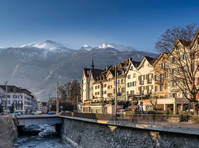 The Swiss town of Chur in south east Switzerland