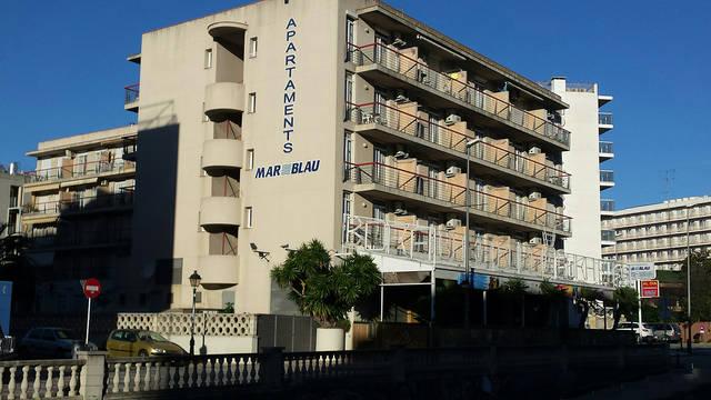 Vooraanzicht Appartementen Mar Blau