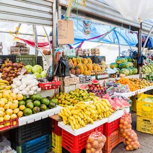 lokale markt in Willemstad op Curaçao