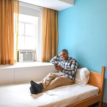 Kamer voorbeeld Hostel YMCA Westside