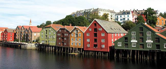 Kleurrijke huizen Trondheim