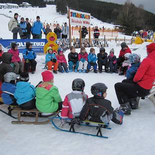 Uitleg in skischool