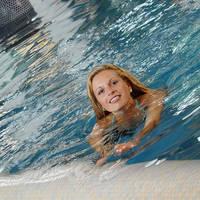 Overdekt zwembad in Göbel's Landhotel