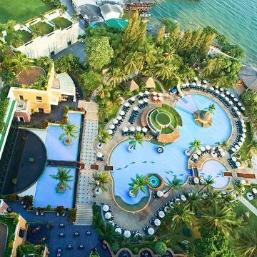 Bovenaanzicht Hilton Hua Hin Resort & Spa