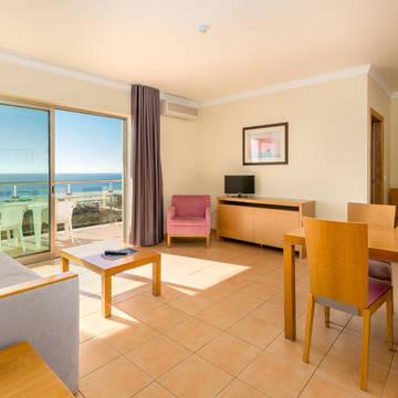 Voorbeeld woonkamer Appartementen Dunamar
