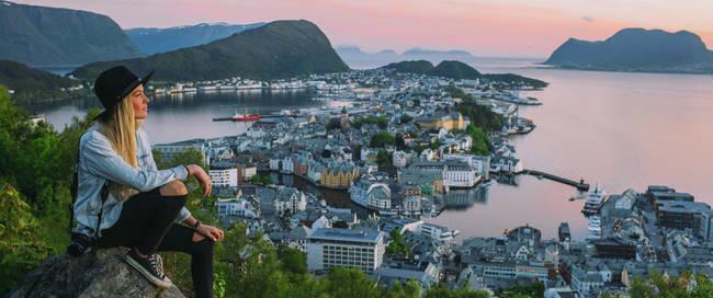 Aksla uitzichtpunt Alesund Foto Samuel Taipale