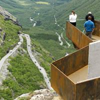 Trollstigen met uitzichtpunt - Foto: Terje Borud
