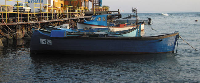Bulgaarse vissersbootjes