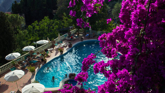 Buitenzwembad Taormina Park Hotel