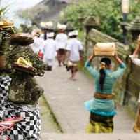 Lokale bevolking bij Besakih tempel