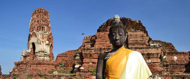 Oude tempel in Ayutthaya
