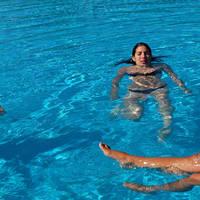 Zwempret in het zwembad