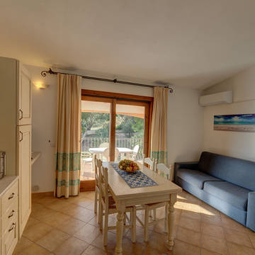 Voorbeeld woonkamer 2-kamerappartement Residence Badus