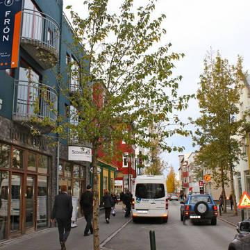 Locatie aan de winkelstraat Laugavegur! Hotel Fron