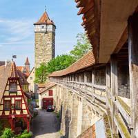 Rothenburg ob der Taube oude stadsmuur
