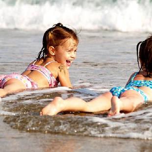 Kinderen strand