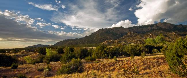 Sandia bergen in Albuquerque