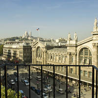 Uitzicht op station Gare du Nord