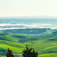 Toscaanse heuvels winter