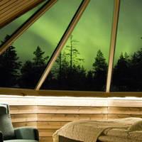 Aurora Cabin met noorderlicht