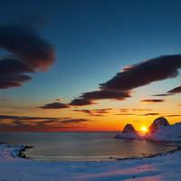 Zonsondergang Vesterålen  - Foto: Ian Robins