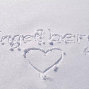 Geschreven Engelberg in de sneeuw