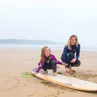 Surfen op het strand