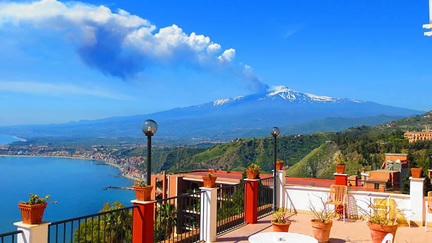 Uitzicht Etna Hotel Elios