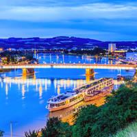 Linz, Nibelungen brug over de rivier de Donau