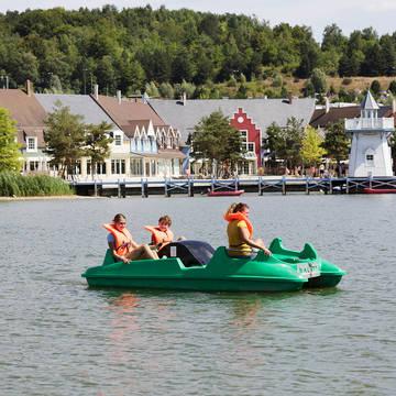 Waterfietsen Vakantiepark Center Parcs Le Lac d'Ailette