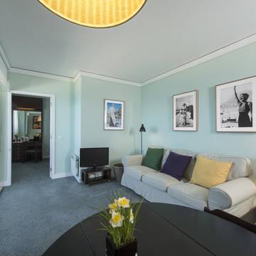 Voorbeeld woonkamer 2-kamer appartement Appartementen Solverde