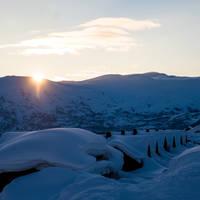 Zonsondergang - Foto: Sverre F. Hjørnevik