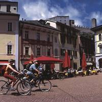 Bellinzona plein met fietsers