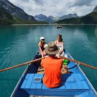 Boot op Oeschinenmeer