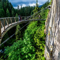 Cliffwalk at Capilano Suspension Bridge - Vancouver