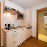 Voorbeeld appartement kitchenette