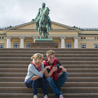 Oslo Trappen voor het Koninklijk Paleis